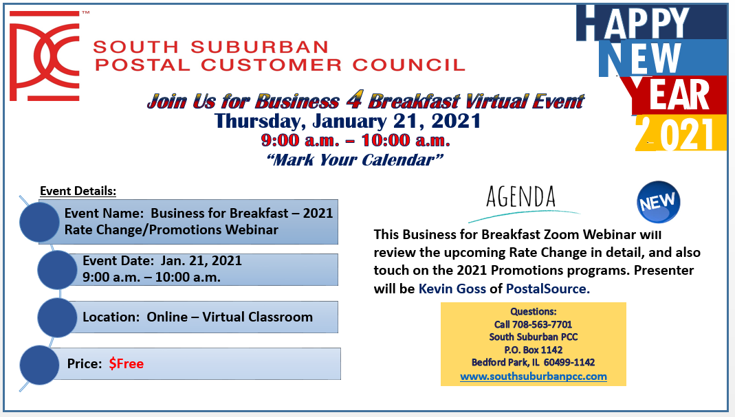 Business For Breakfast -2021 Rate Change /Promotions Webinar January 21